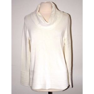Calvin Klein white cotton knit seater sz L